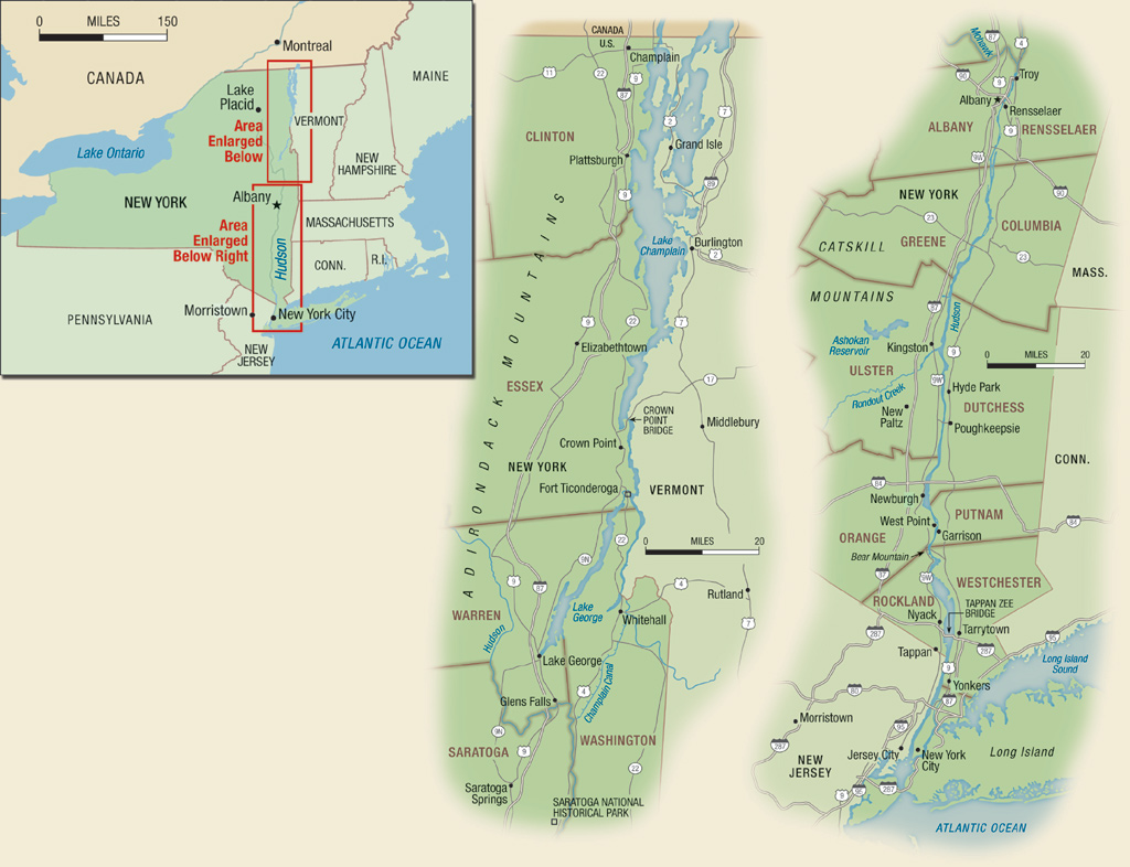 Map of Historic Sites in New York State
