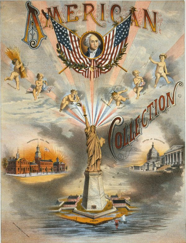 An American Collection of sheet music was published with Liberty's image in 1885, before she was even dedicated.