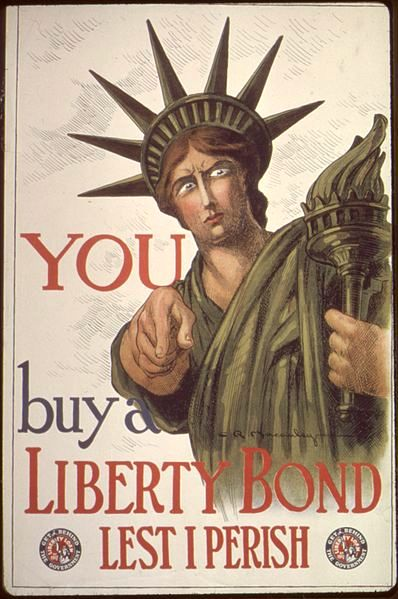 The patriotism during World War I meant a much more clear message for Lady Liberty.