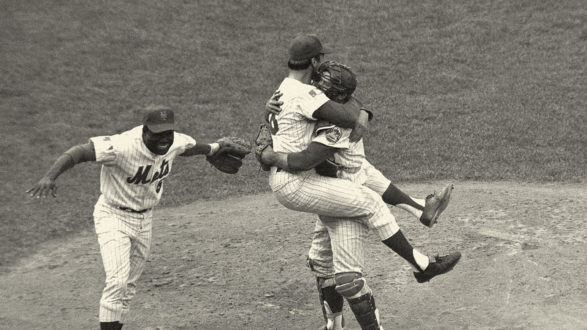 New York Mets players celebrate after winning the 1969 World Series. Photo Courtesy of MLB.com