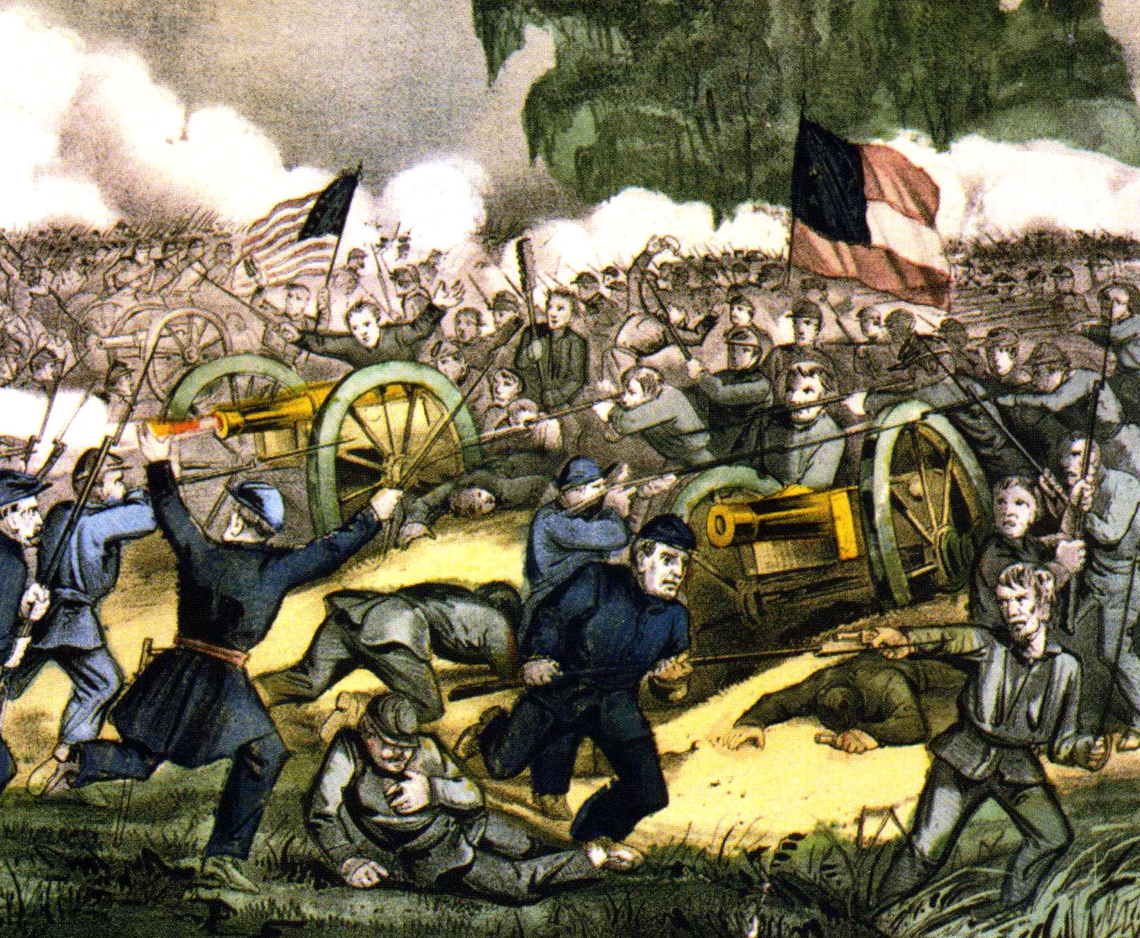 Lee believed that he would never raise his sword against the Union — only in defense of his state — but that changed as the war progressed; most notably when he led an invasion of Pennsylvania in 1863 and suffered a major defeat at Gettysburg (above).