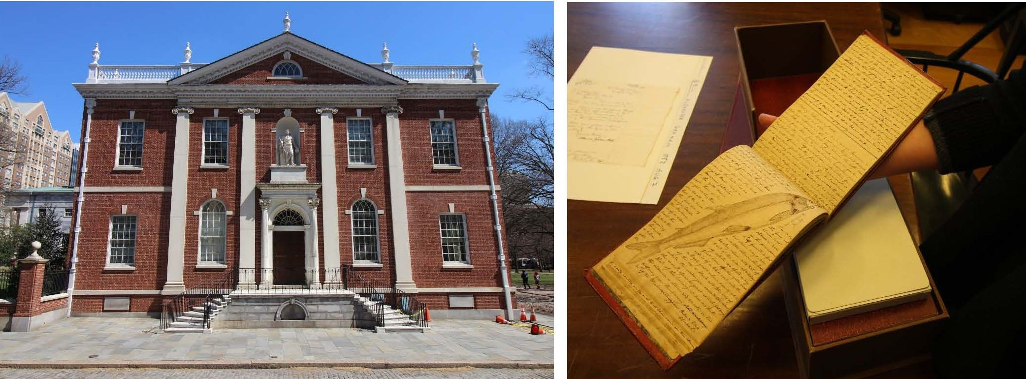 The rich collections at the American Philosophical Society include original journals of Lewis and Clark. Photos by Edwin Grosvenor.