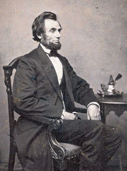 Pres. Abraham Lincoln, photographed a few months before the Battle of Mill Springs, was obsessed with pushing south through areas of eastern Kentucky and Tennessee that were sympathetic to the Union.  Library of Congress.