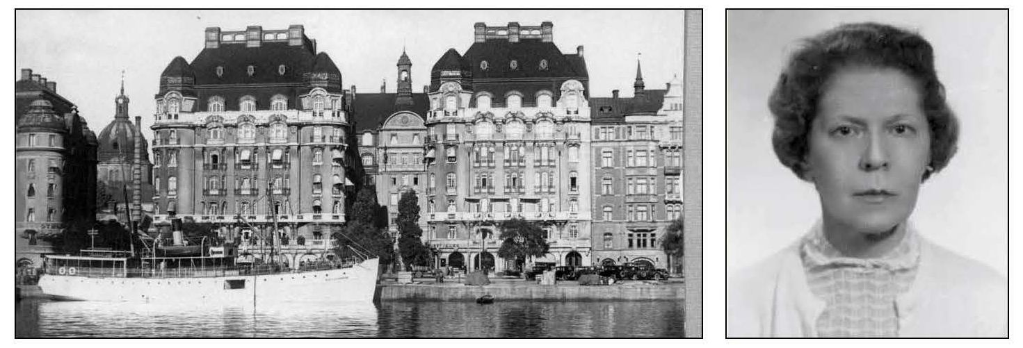 The OSS office in Stockholm, in neutral Sweden, was active in collecting information on the Nazis. Ironically, the office of the German Military Attaché was next door at Strandvägen 7C.  office was next door to the the