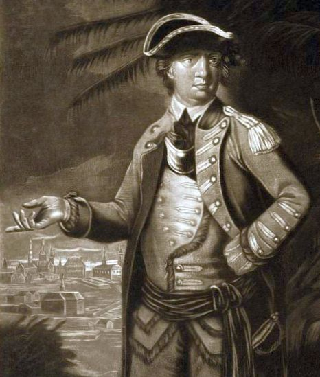 Benedict Arnold after the fight at Quebec, 1776.