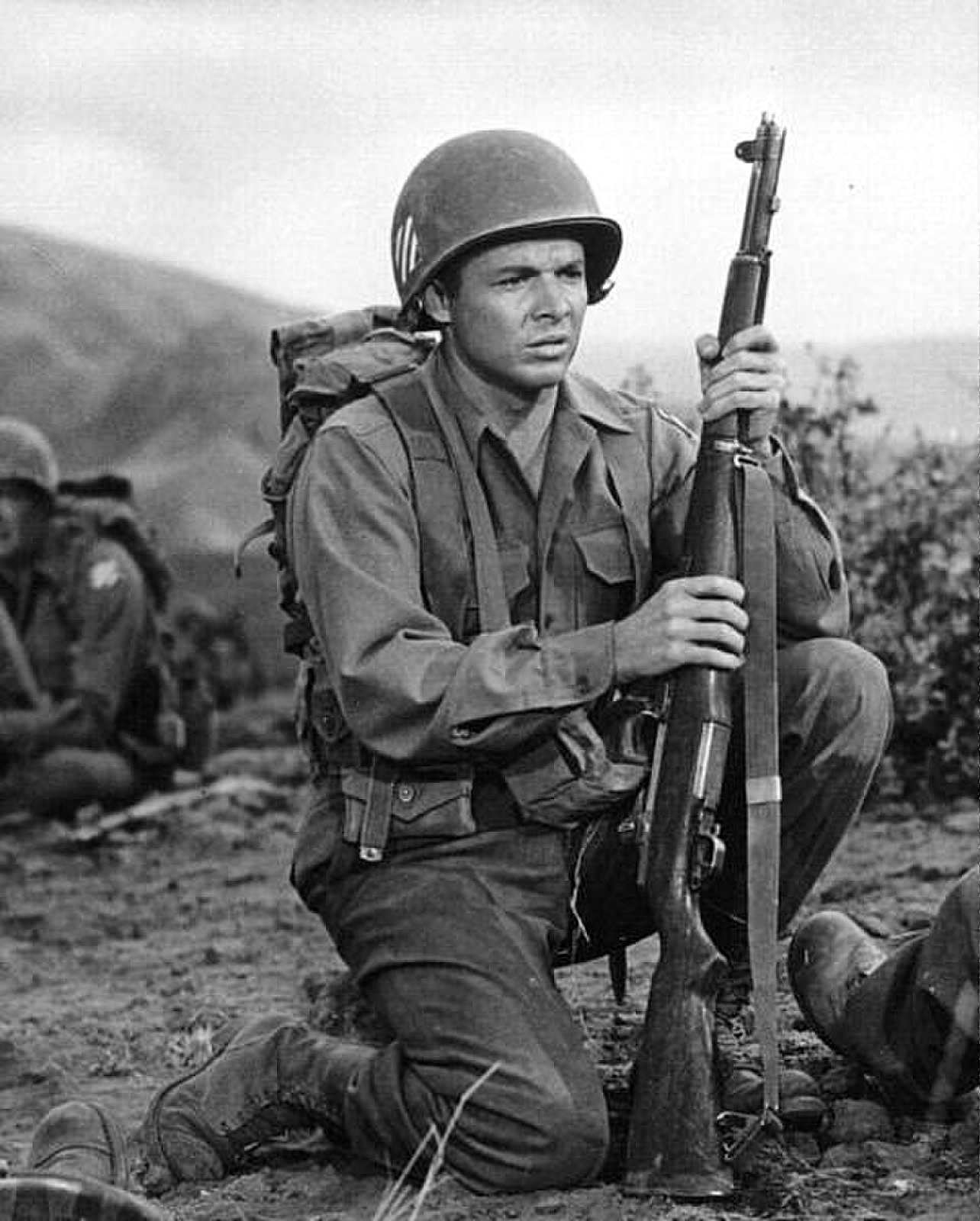 Audie Murphy, who later starred in his autobiographical movie, saw heavy fighting at Anzio.
