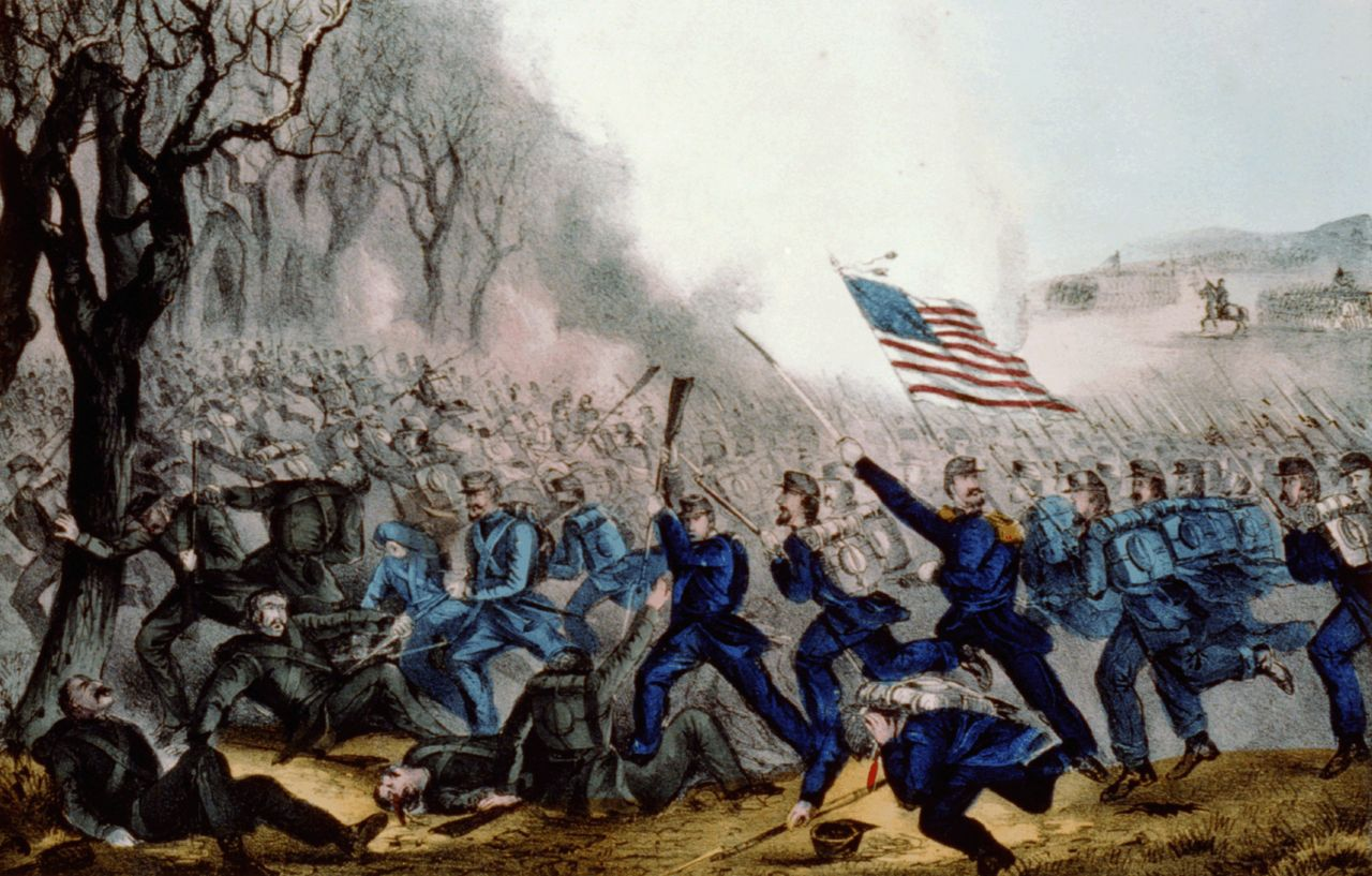 The Battle of Mill Springs may have been a small engagement relative to some other Civil War battles, but for the 11,000 men who found there in the mud and cold, it was a brutal slugfest.  Courtesy Library of Congress.