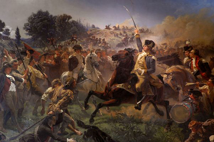 Washington Rallying the Troops at Monmouth by Emanuel Leutze