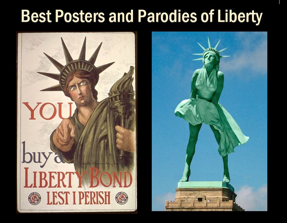 poster and parody of the Statue of Liberty