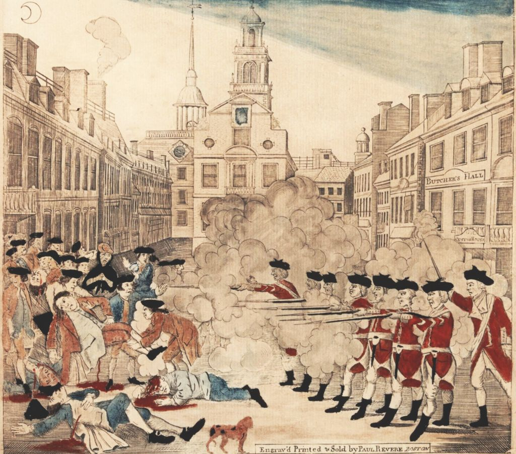The Boston Massacre engraved by Paul Revere (Gilder-Lehrman)