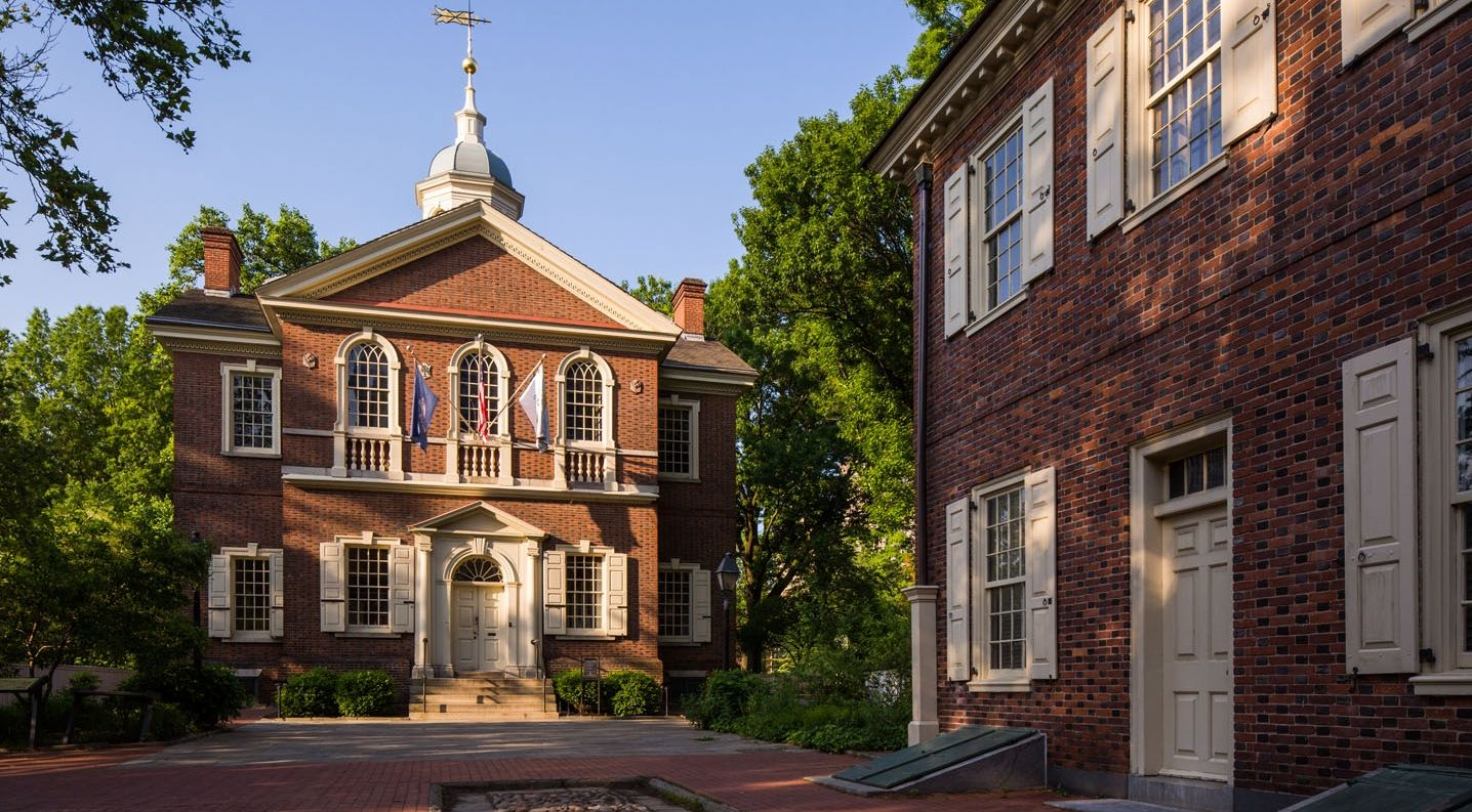 Carpenters Hall looks much the same as it did when the first Continental Congress met here in 1774. The 1724 remains the headquarters of the oldest extant craft guild in America.