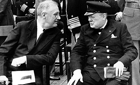 Churchill and Roosevelt at Argentia