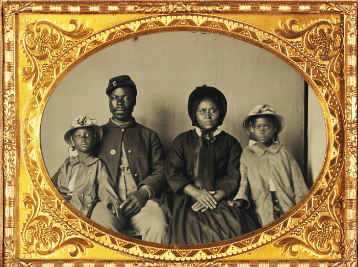 In 1863, Stanton issued General Order No. 143 to create the Bureau of U.S. Colored Troops, in which African-American solders were able to fight for their country. A Maryland solder who posed for a daguerrotype with this family probably fought in the U.S.C.T.