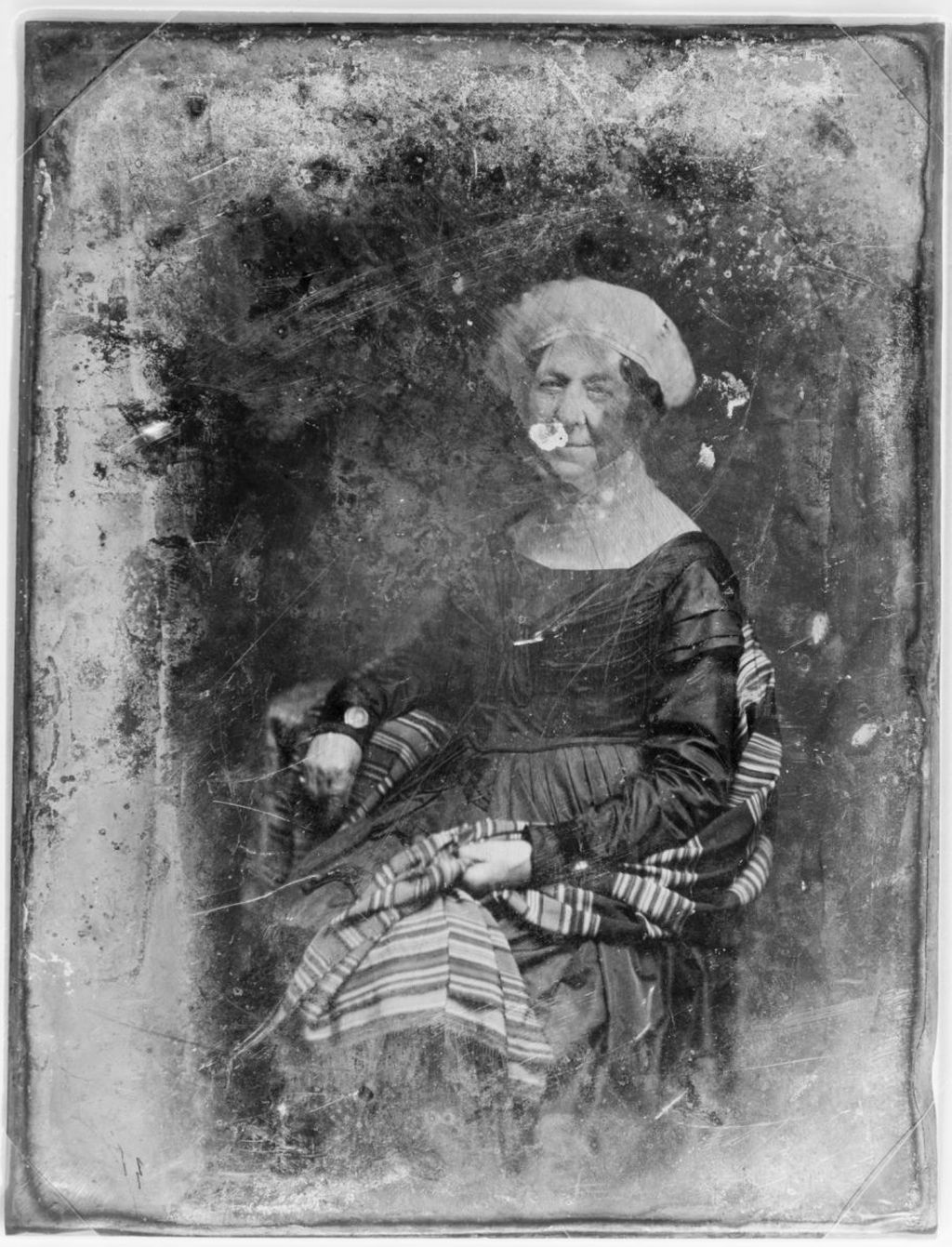 A young Matthew Brady made a daguerreotype of Dolley Madison in 1848. Library of Congress.