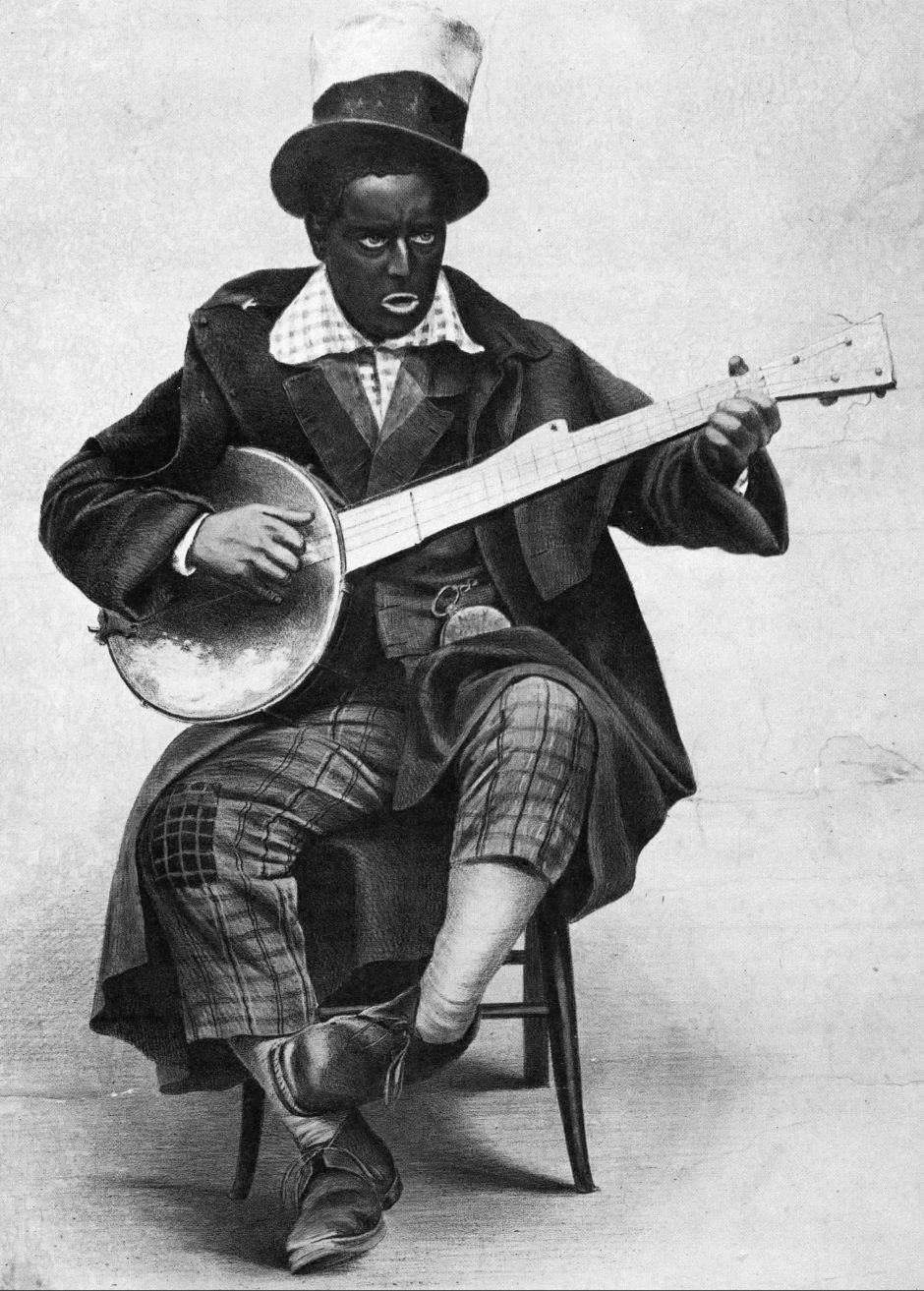 "Earl Pierce, a Christy Minstrel star, performed his feature turn ""Hoop De Doodem Doo"" in an English print made in 1858."