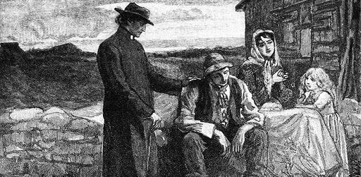 Father Theobald Mathew visiting the famine victims