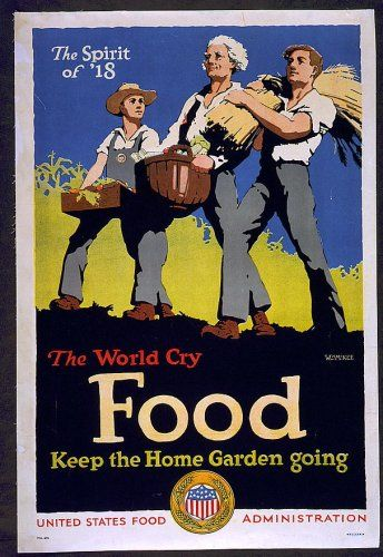 After America entered the war, Herbert Hoover returned to the US. Pres. Wilson put him in charge of the Food Adminstration, which encouraged Americans to conserve for the war effort.