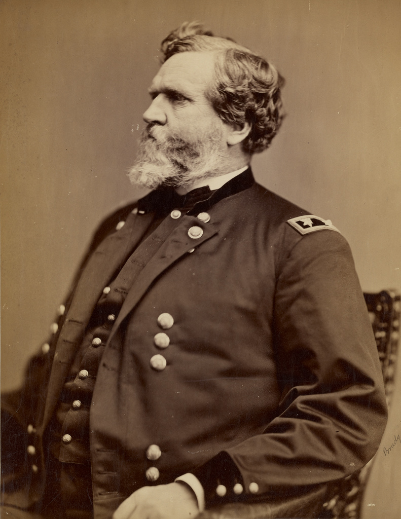 "Native Virginian Gen. George Thomas was shunned by his family for remaining in the Federal army.  Given the nickname ""Slow Trot"" at West Point, he was a deliberative commander who won numerous engagement in the War, and later was known as the ""Rock of Chickamauga."" Courtesy of the J. Paul Getty Museum."