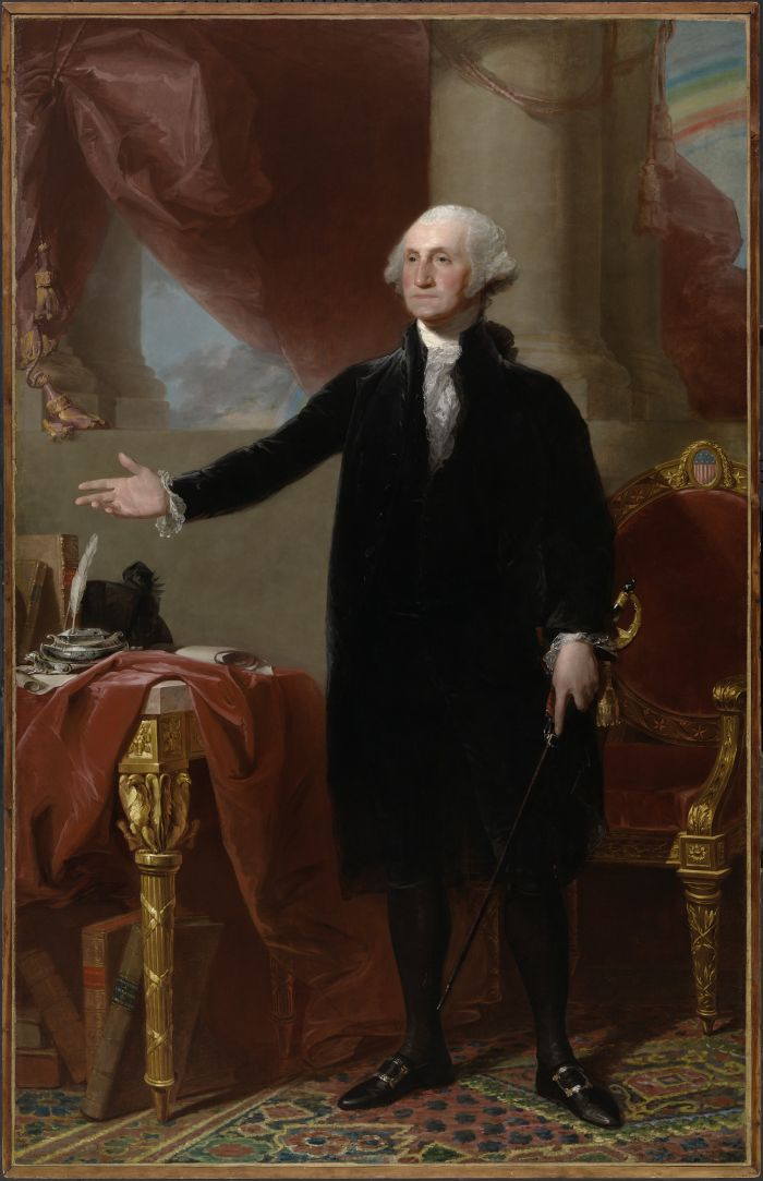 George Washington Lansdowne portrait by Gilbert Stuart