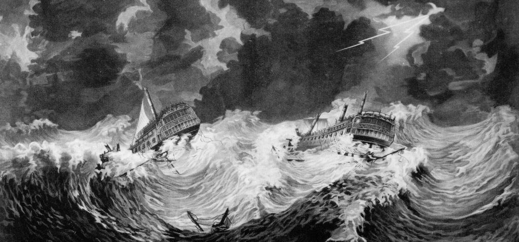 HMS Hector and HMS Bristol were two other British ships destroyed in 1780.