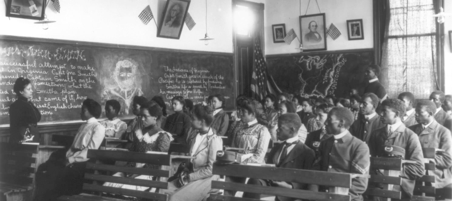 Students learned U.S. history in a class at Tuskegee. Booker T. Washington sought better early education for African-Americans after having difficulty finding adequately prepared students for Tuskegee.