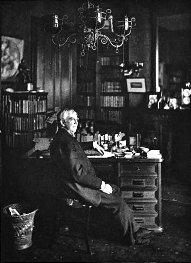 Oliver Wendell Holmes, Sr. in his study