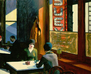 "Edward Hopper painted ""Chop Suey in 1929. Private collection."
