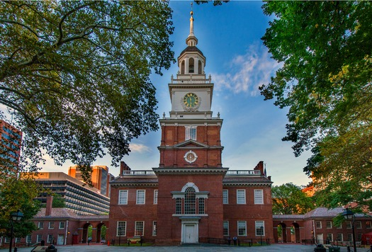 The centerpiece of American history is Independence Hall where both the Declaration of Independence and the U.S Constitution were debated and adopted.