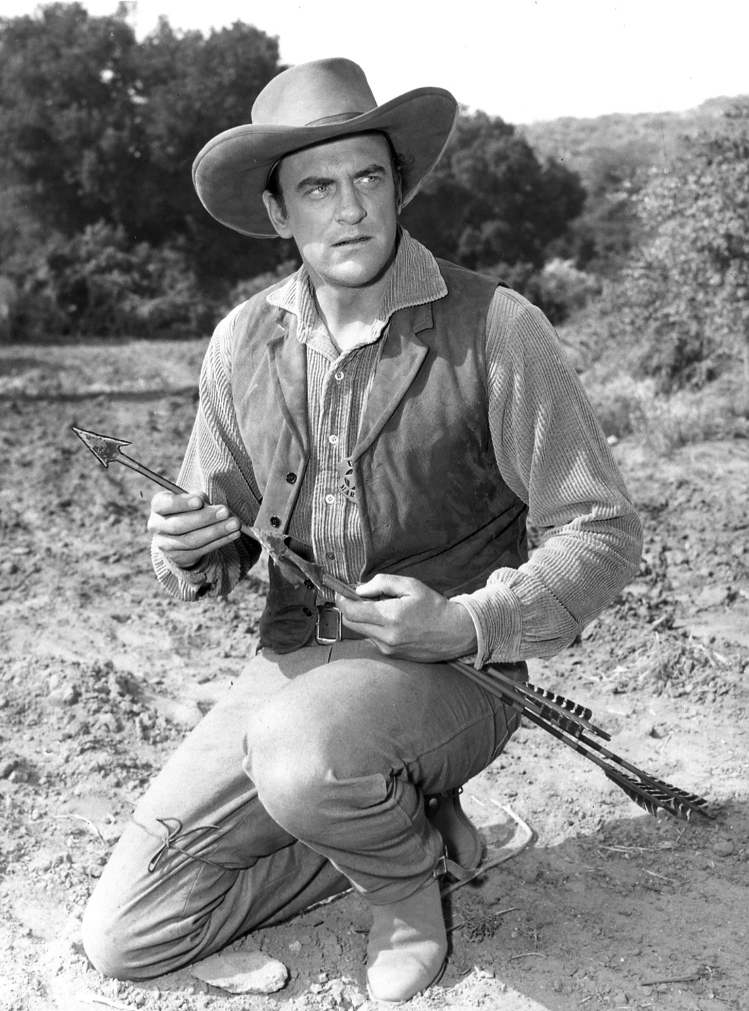 James Arness was badly wounded at Anzio, but survived to star in the television Western, Gunsmoke