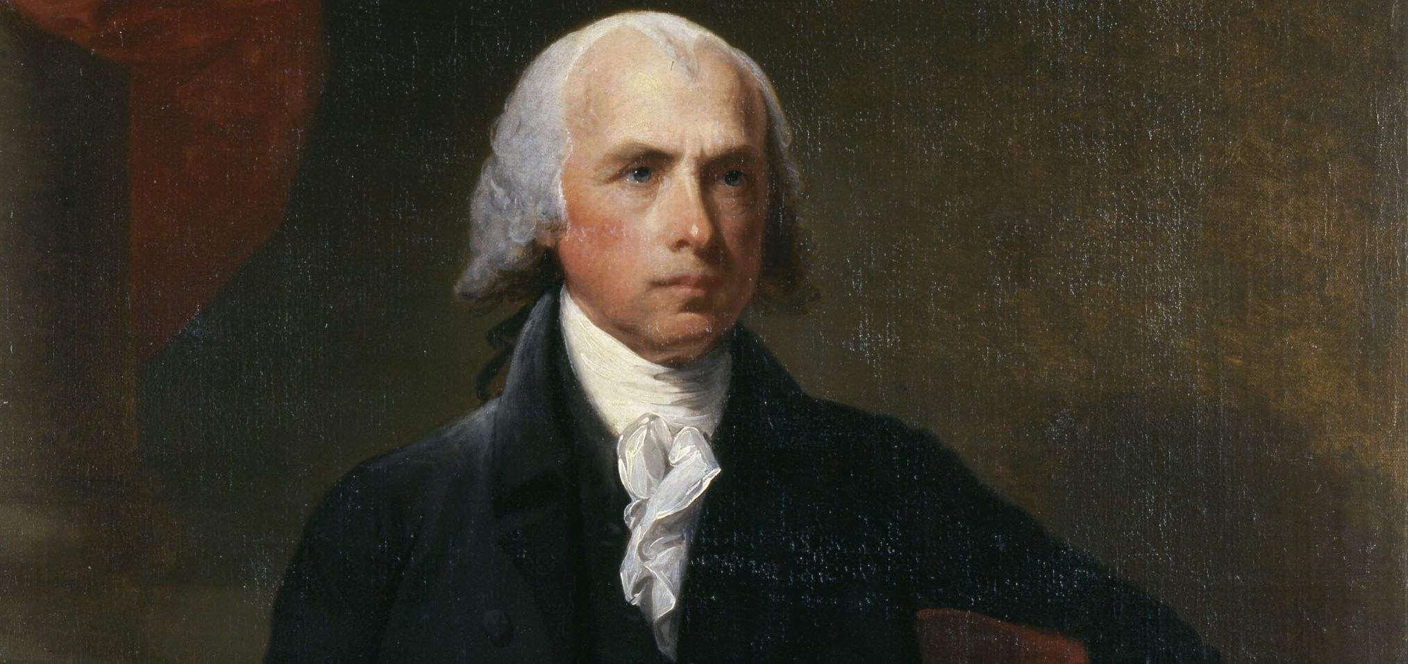 James Madison, painted by Gilbert Stuart, emerged as a leader of the First Congress. Bowdoin College Museum of Art.