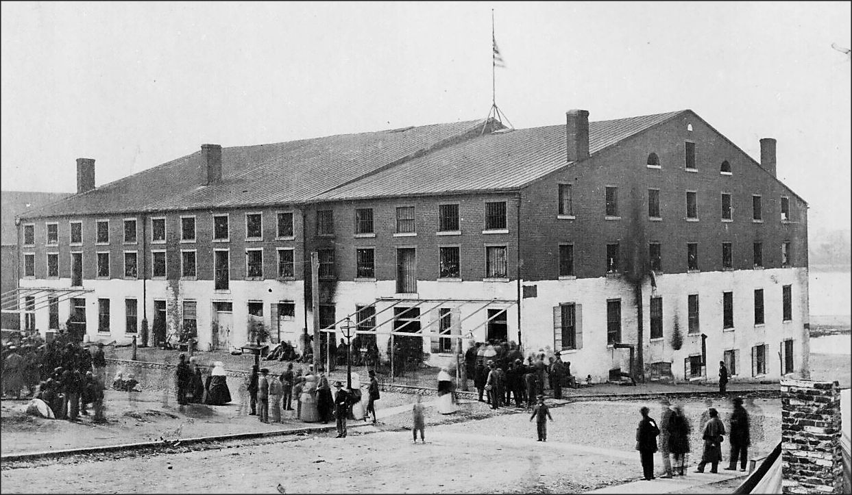Libby Prison in Richmond was notorious for its overcrowding and difficult conditions in which hundreds of Union prisoners died from disease and malnutrition. Photo by Alexander Gardner, National Archives.