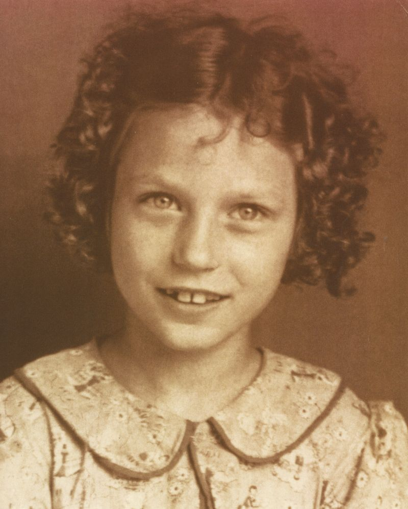 Loretta Webb at the age of eight.