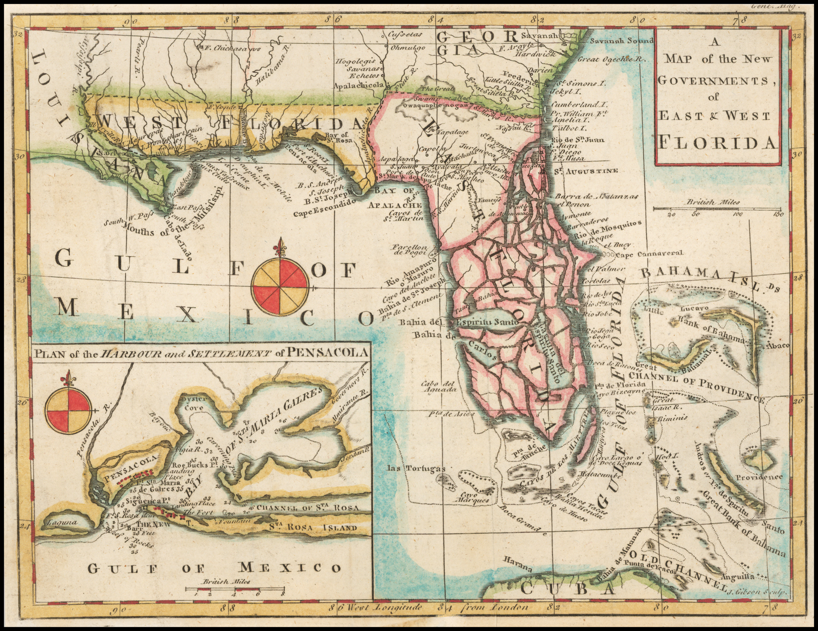 West Florida Map.The New Map Of Empire American Heritage