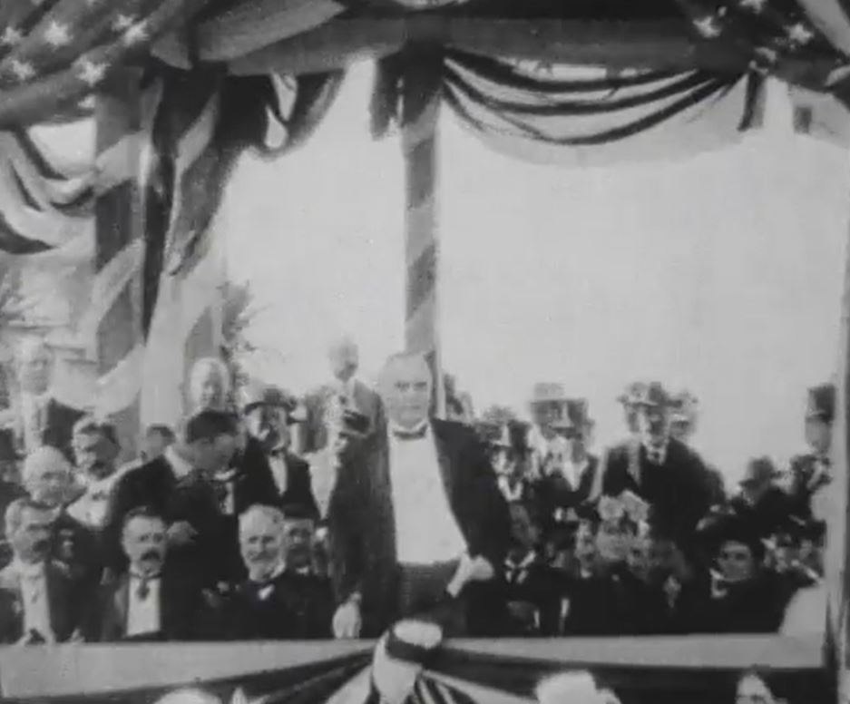 McKinley speaking at the Pan-American Exposition in Buffalo, NY.