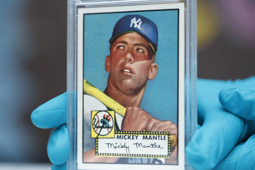 "The Colorado History Center recently displayed the ""Holy Grail"" of baseball cards, a 1952 Topps Mickey Mantle valued at more than $10 million, as part of a baseball memorabilia exhibit in Denver."