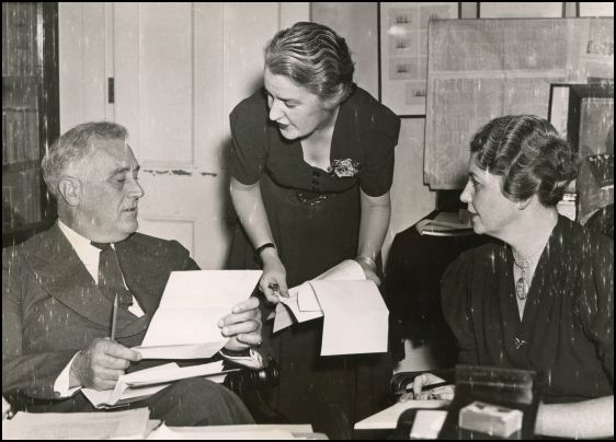 Missy (left) worked for FDR for 21 years until she was stricken by a stroke in 1942. Grace Tully (right) took over many of her duties at the White House.
