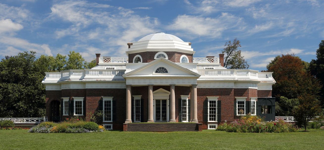 Monticello was the primary plantation of Thomas Jefferson, the third President of the United States, who began designing and building Monticello at age 26 after inheriting land from his father. Located just outside Charlottesville, Virginia,