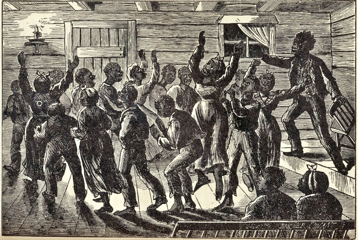 "Song played a vital role in the cruel life of slaves. In the evenings, we ""gathered around a cabin to sing and moan songs seasoned with African melody,"" recalled ex-slave James Johnson in the early 1900s."