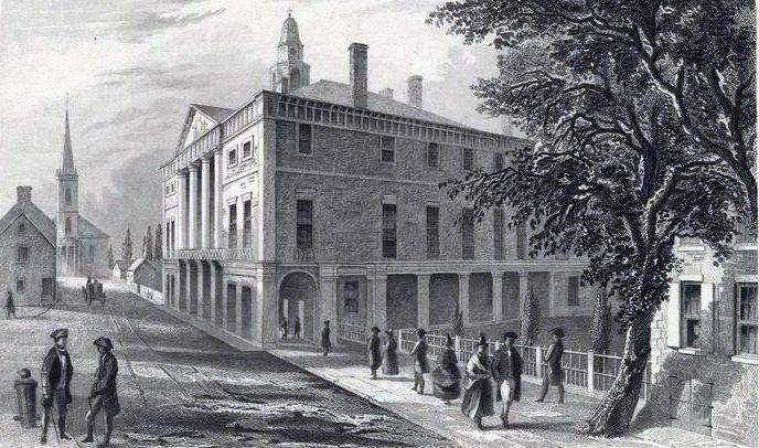 Federal Hall on Wall Street in New York was renovated for the First Congress.