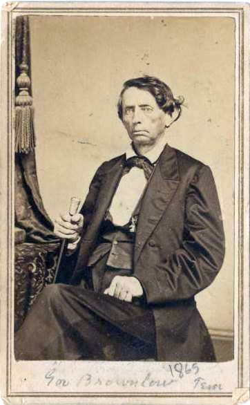"William ""Parson"" Brownlow was arrested by the Confederacy for instigating the burning of bridges in the South. After the War, he would be elected to the Senate from Tennessee. Courtesy Allen County (IN) Public Library."