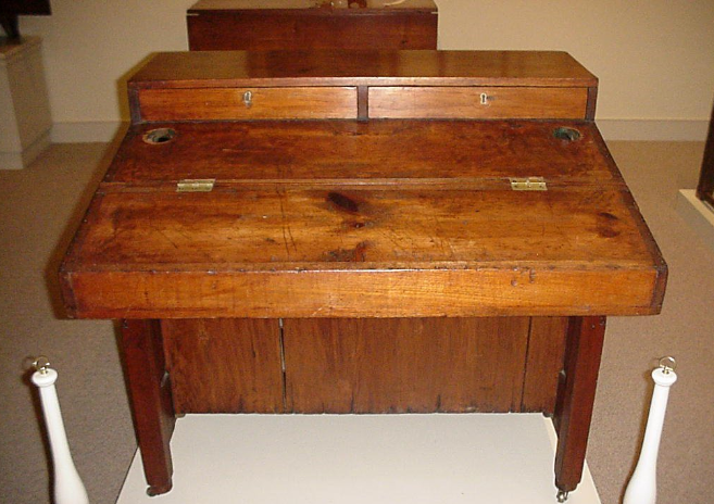 Patrick Henry's desk can still be seen at Red Hill Plantation.