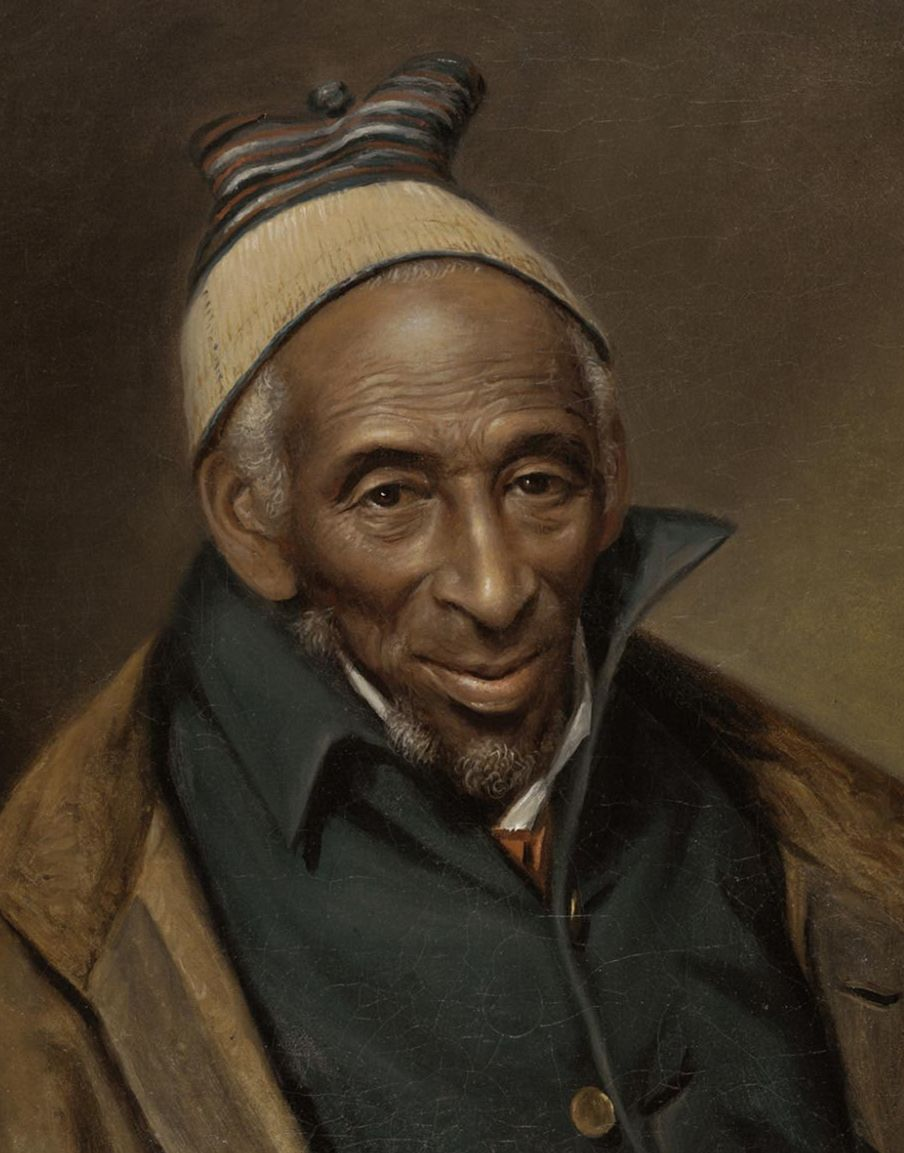 "An important recent acquisition of the Philadelphia Museum of Art is the 1819 portrait of Yarrow Mamout by Charles Willson Peale. Mamout an African American Muslim who won his freedom from slavery and was literate in Arabic. A native of Guinea,  Yarrow was ""comfortable in his Situation having Bank stock and [he] lives in his own house,"" wrote Peale."