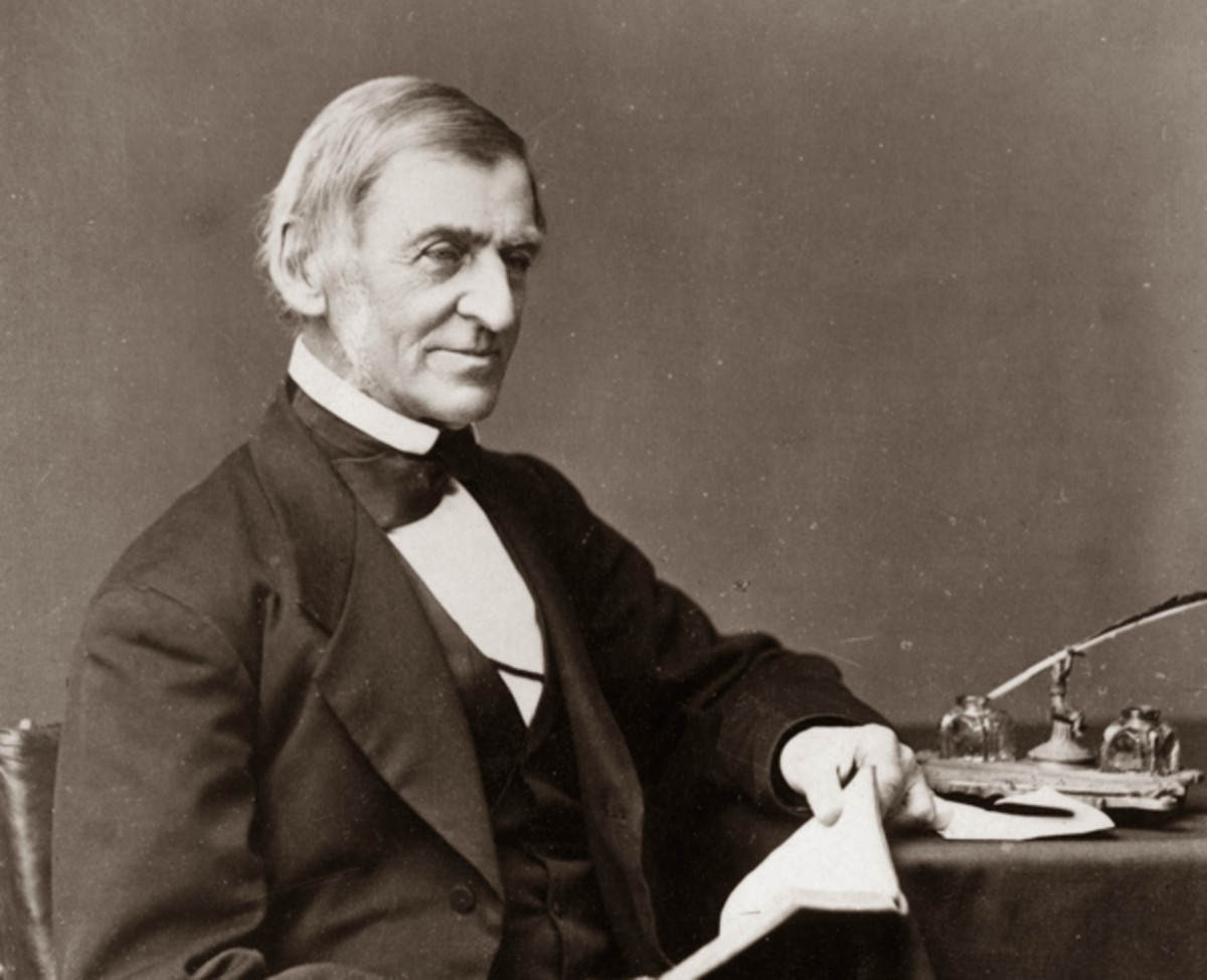 Author and philosopher Ralph Waldo Emerson was a leading professor at Harvard who influenced Holmes.