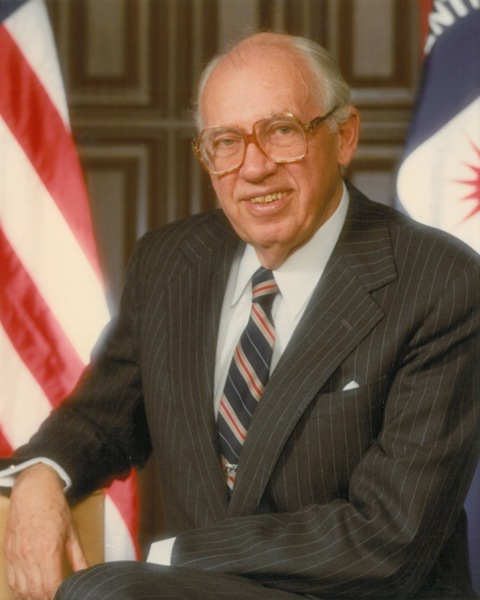 CIA Director William J. Casey poses for his official portrait. Photo Courtesy of Wikimedia Commons.