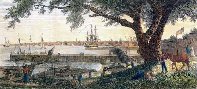 Philadelphia was largest city in the new United States in the late 1700s, with 40,000 inhabitants.