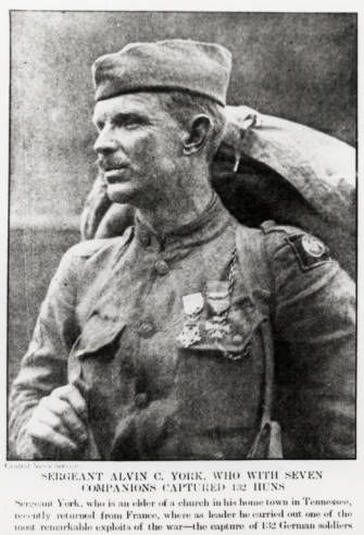 Sgt. York with his Medal of Honor.