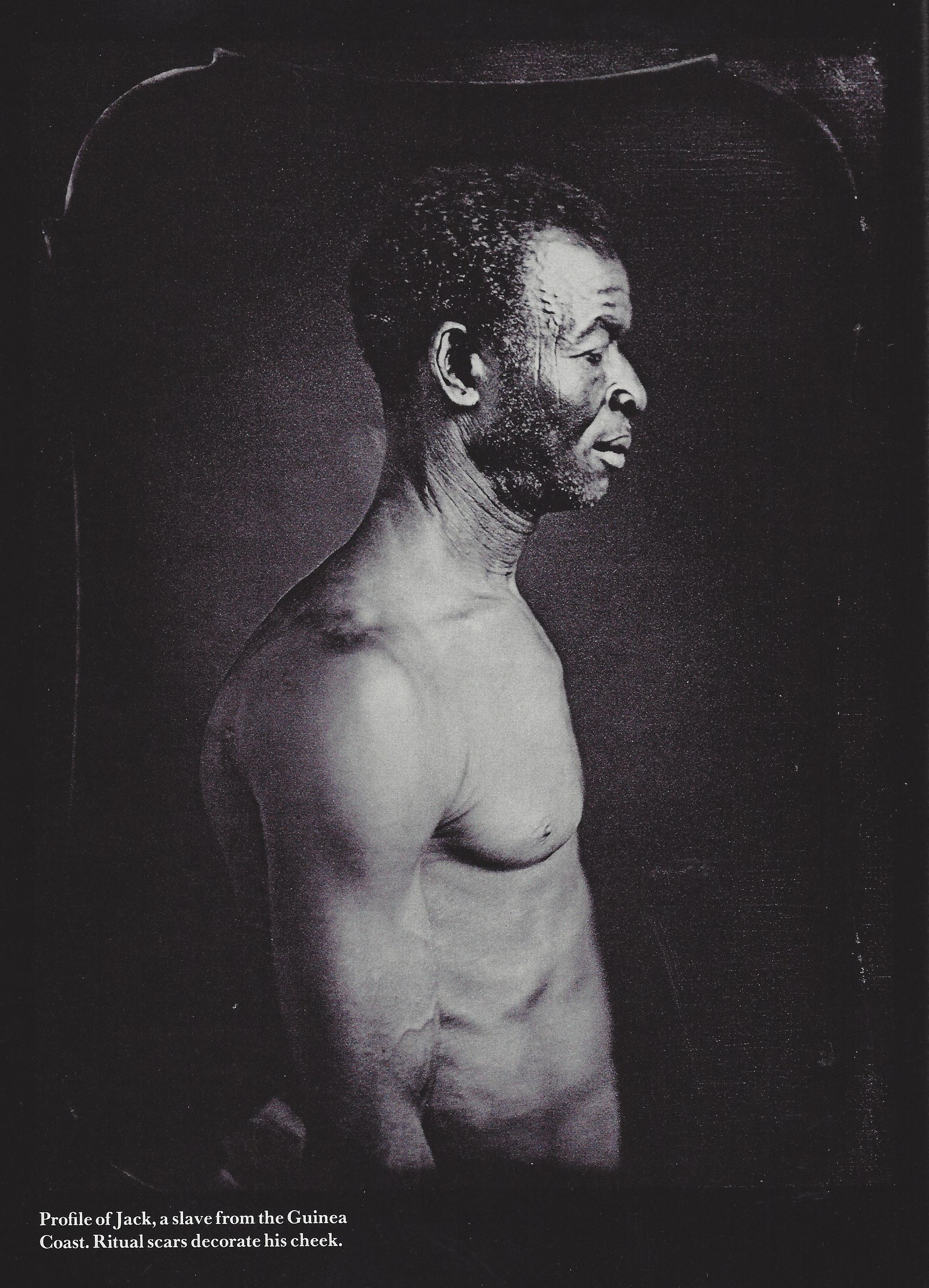 A profile of Jack, a slave from the Guinea Coast.