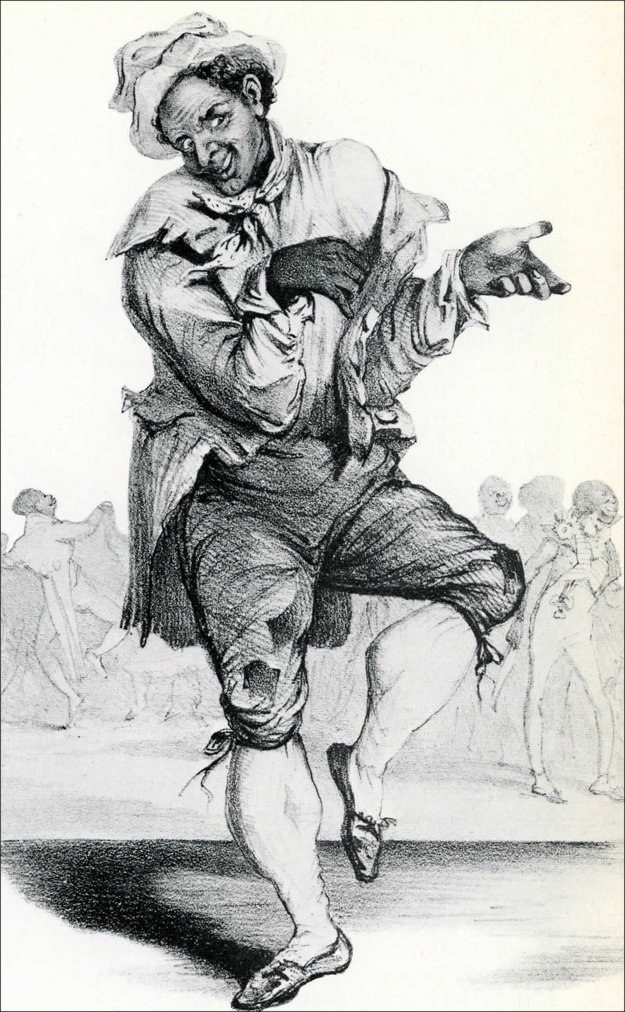 "Thomas Rice was one of the very first American stage stars. His fame spread worldwide, this lithograph shows him in London, and writer Bayard Taylor even claimed to have heard ""Jump Jim Crow"" sung by street performers in India."