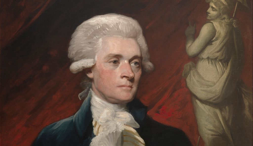 Thomas Jefferson in 1786, painted by Mather Brown. National Portrait Gallery.