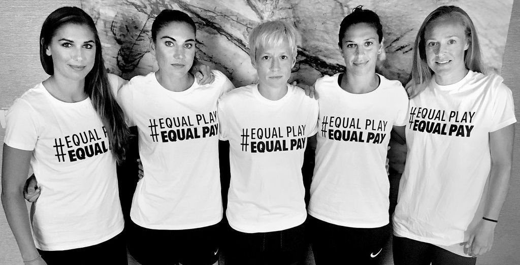 Fifty years after the suite against Time, Inc., women are still fighting for equal pay. Among the most visible are the players on the U.S. women's soccer team. Photo credit U.S.W.N.T. Players Association